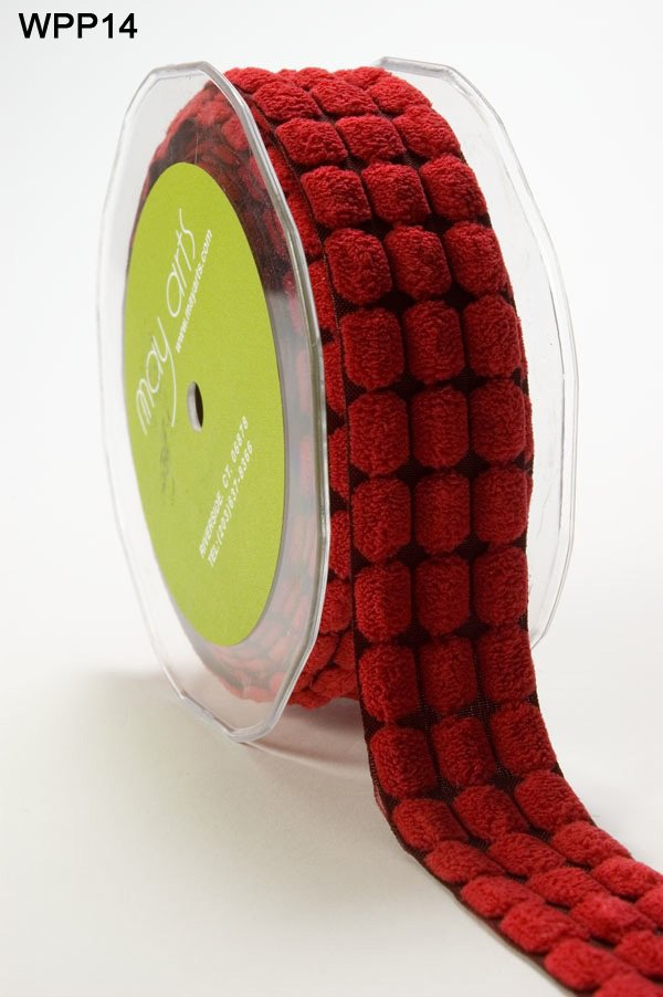 Chenille Dots Ribbon 1-1/2 inch