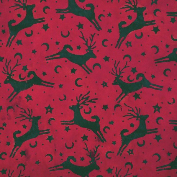 Red - Snowbird -  Batik by Mirah