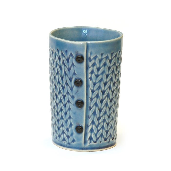 Creative With Clay 4-Button Tumbler - Knit Stitch