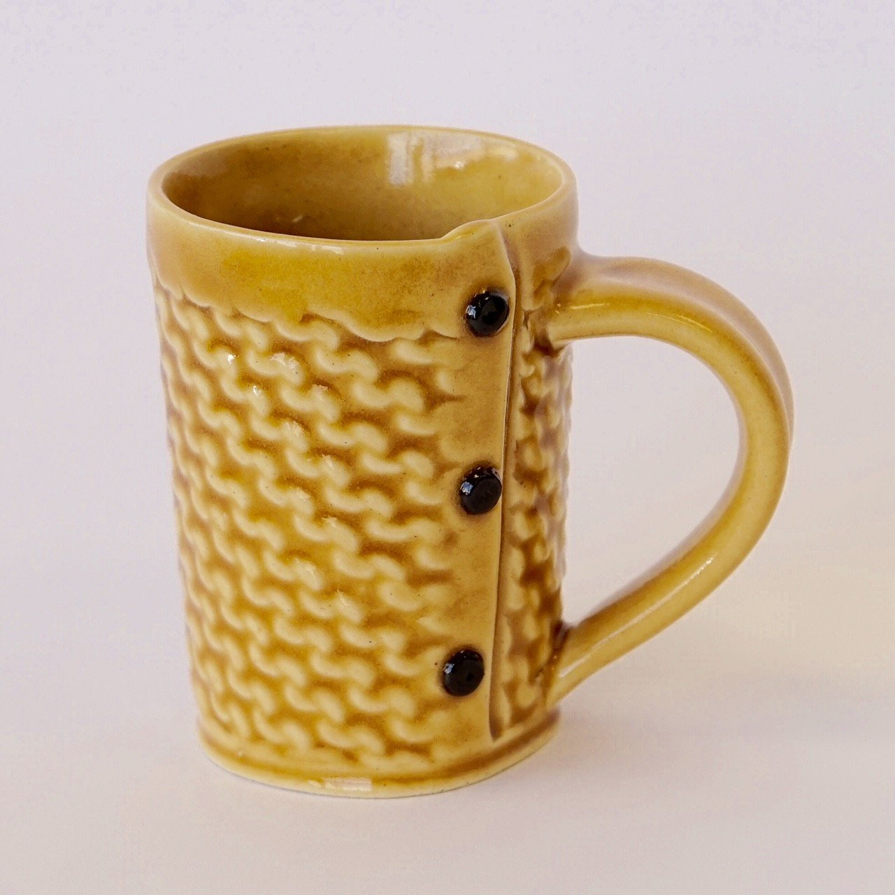 Creative with Clay Medium Tea Mug - Garter Stitch