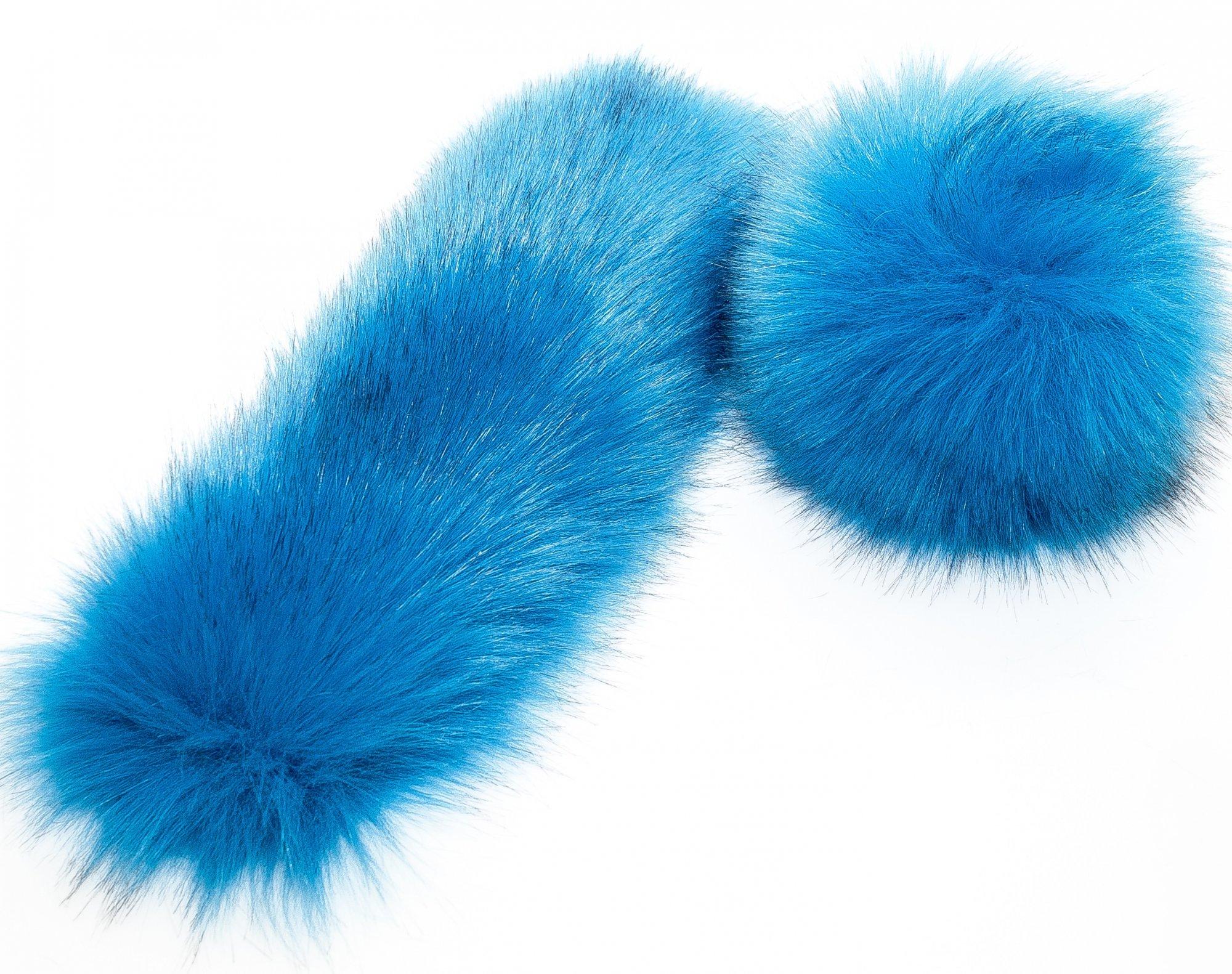LOVaFUR Handmade Vegan Fur Cuff - Premium Fox - Ocean Blue