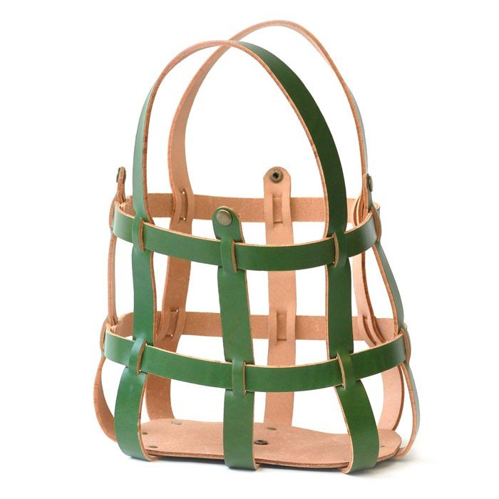 Makers' Mercantile Leather Purse Cage - Basil
