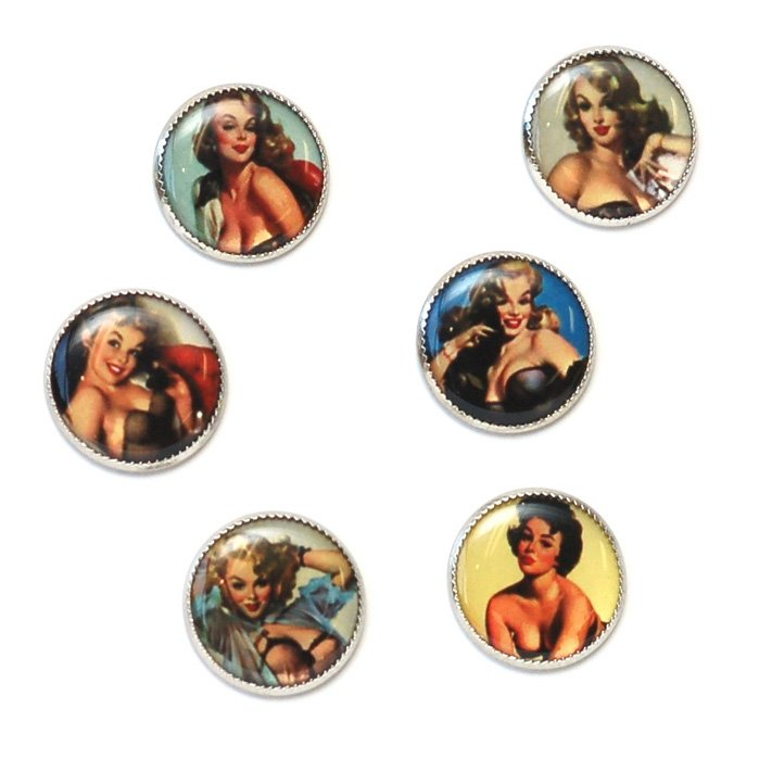 40's Pinup Picture Button Set