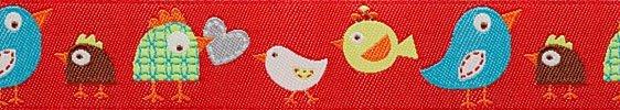 Renaissance Ribbons Dena Designs Happi Birds - Red