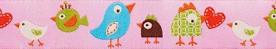 Renaissance Ribbons Dena Designs Happi Birds - Pink