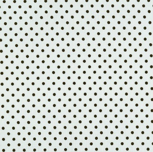 RJR Fabrics Crazy for Dots & Stripes - Black Dots on White 45 Wide