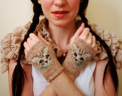 Meow Mitts by Tiny Owl Knits