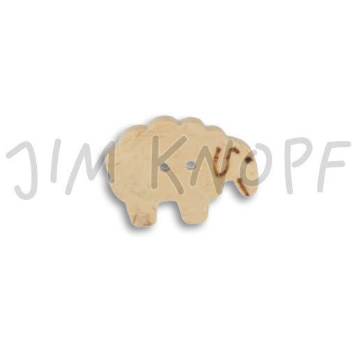 Jim Knopf Hand-crafted Coco Wood Sheep Button Natural 30mm (10303)