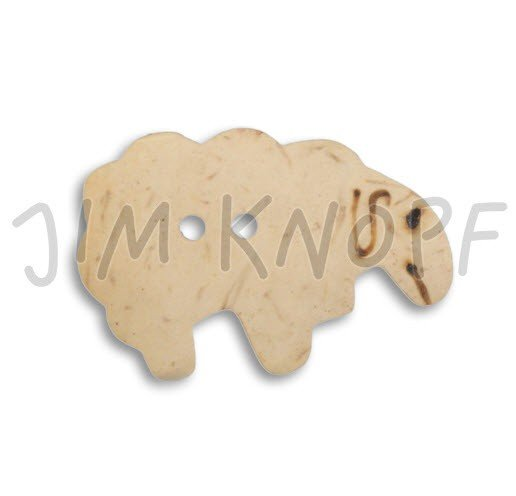 Jim Knopf Hand-crafted Coco Wood Sheep Button Natural