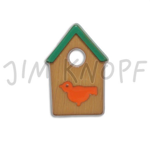 Jim Knopf Hand-crafted Resin Bird House Brown 28mm (12668)