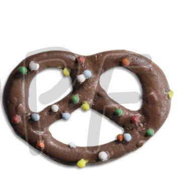 Jim Knopf Hand-crafted Resin Pretzel w/Sprinkles Chocolate 64mm (12399)