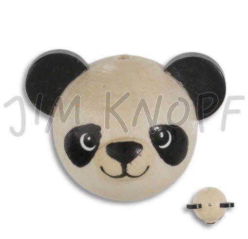 Jim Knopf Hand-crafted Wood Bead Shaped Like a Panda (80352)