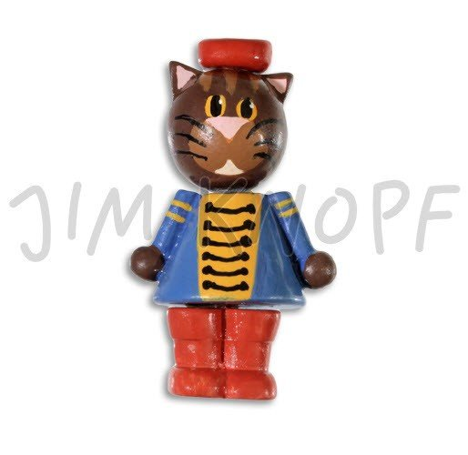 Jim Knopf Hand-crafted Wood Hanger Painted 3D Cat-in-a-Suit 92mm (80490)