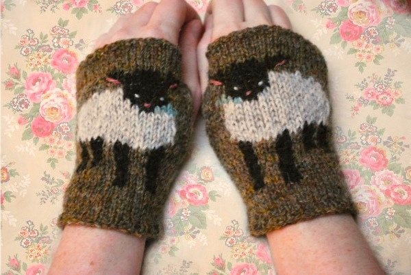 Baby Lamb Cuffs by Tiny Owl Knits