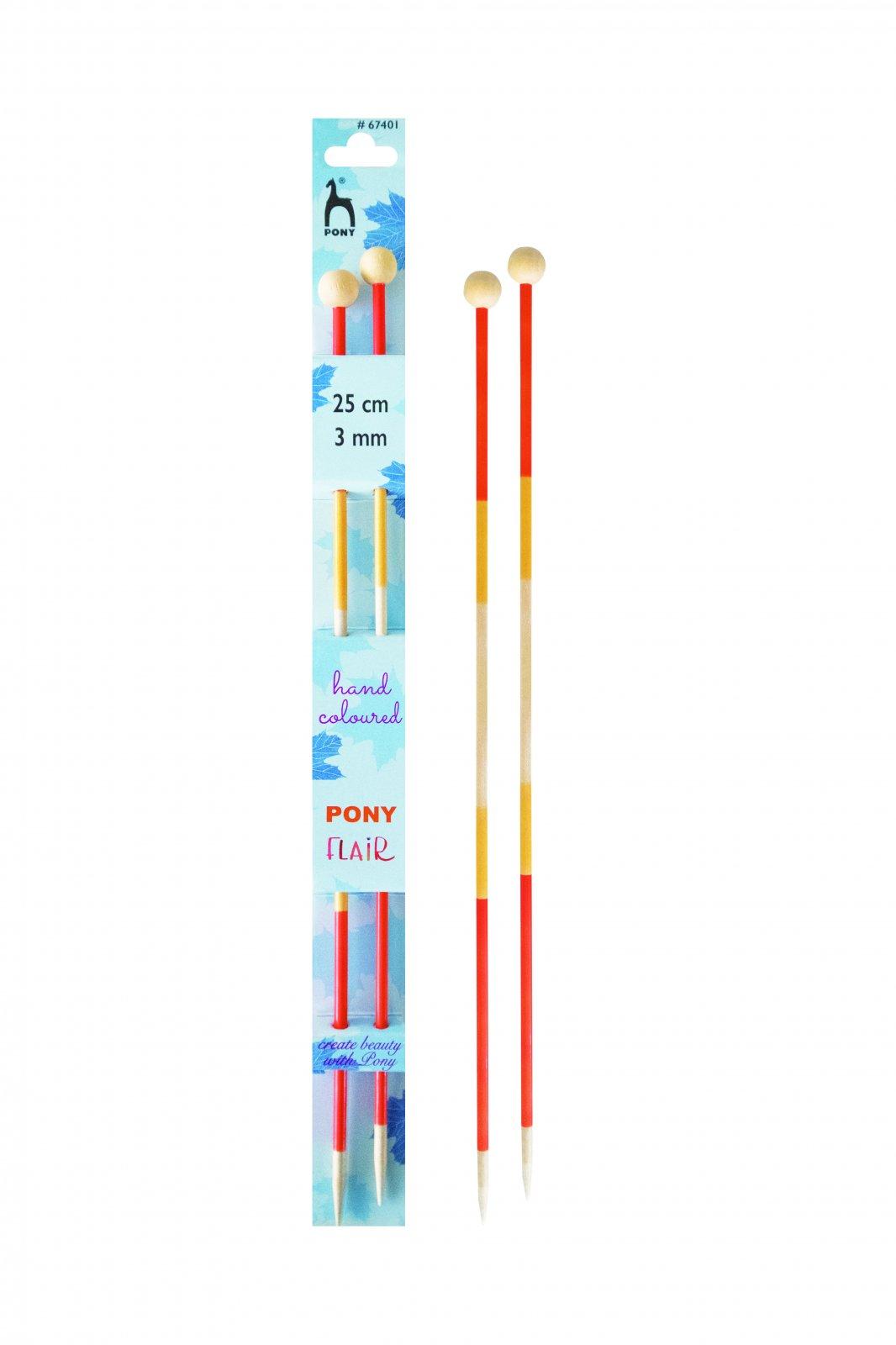 Pony - Flair Straight (Single Point) Knitting Needles