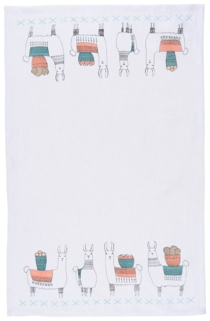 Llamarama Linen Dishtowel