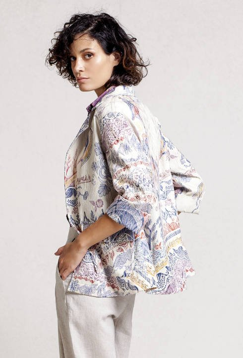 IVKO Print Jacket 71520-011 - Off White