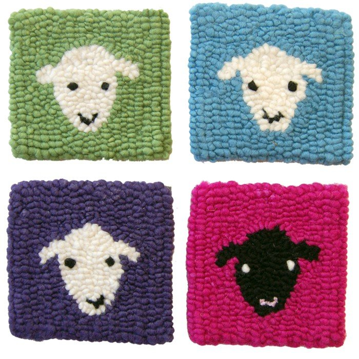 Fiberhooking Pattern - Sheep Coasters #44000101