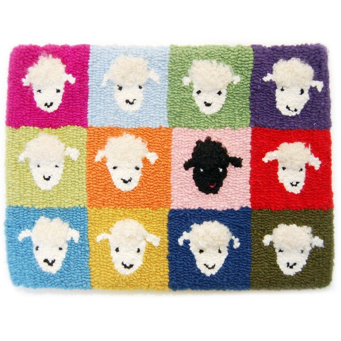 Fiberhooking Pattern - Twelve Sheep #44000115