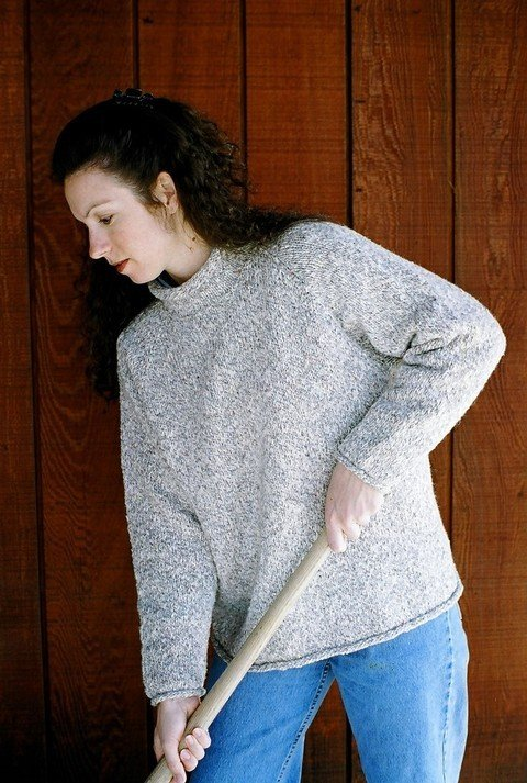 Knitting Pure & Simple Pattern - #9724 Neck Down Pullover for Women