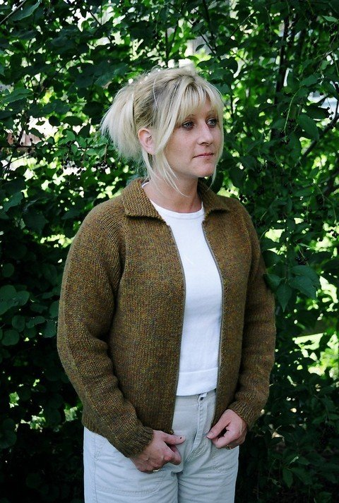 Knitting Pure & Simple Pattern - #201 Neck Down Jacket