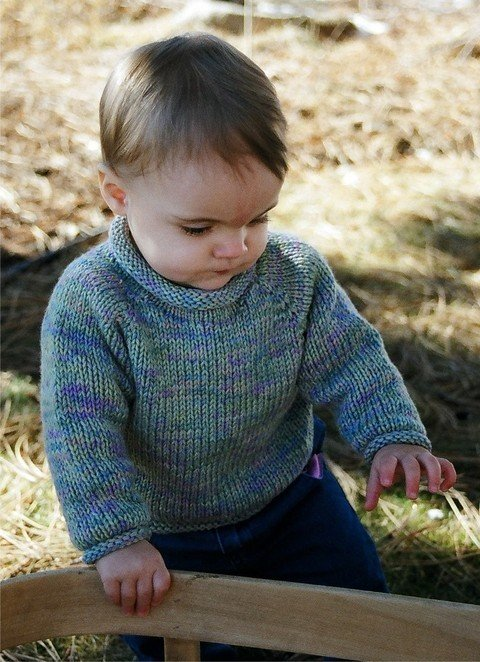 Knitting Pure & Simple Pattern - #214 Baby Pullover