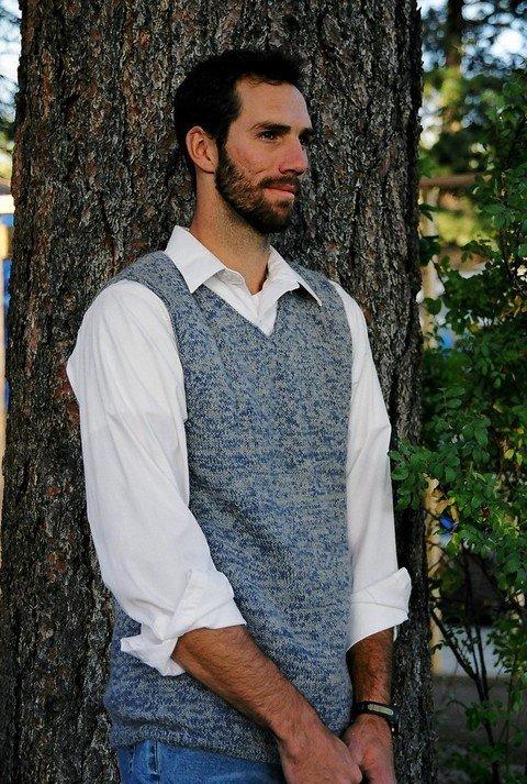 Knitting Pure & Simple Pattern - #215 Basic Vest for Men