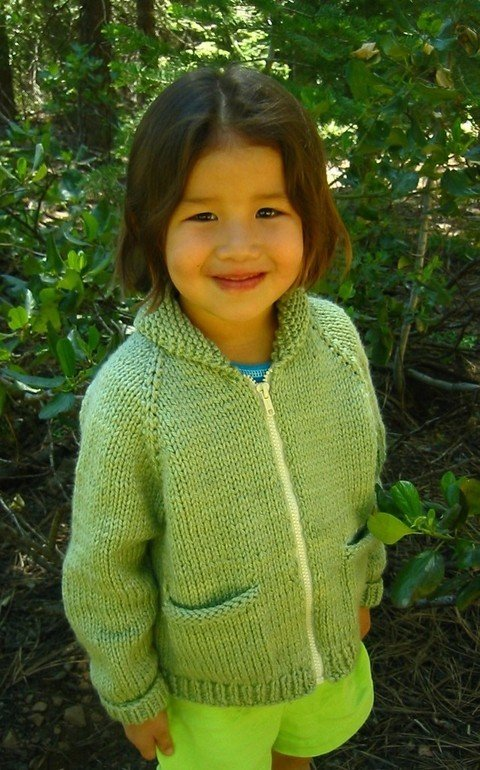 Knitting Pure & Simple Pattern - #249 Bulky Neck Down Jacket for Children