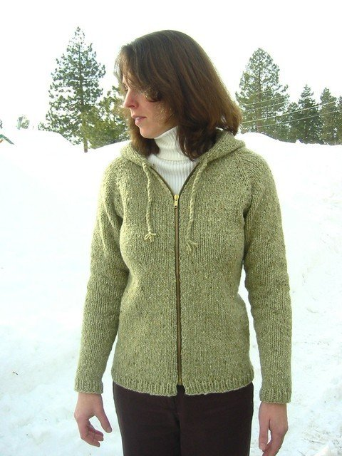 Knitting Pure & Simple Pattern - #252 Neck Down Bulky Cardigan for Women