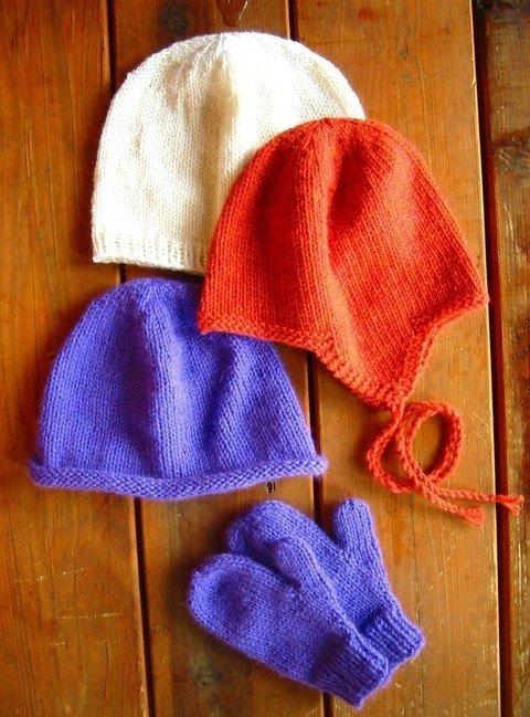 Knitting Pure Simple Pattern 253 Basic Hat Mitten For Children