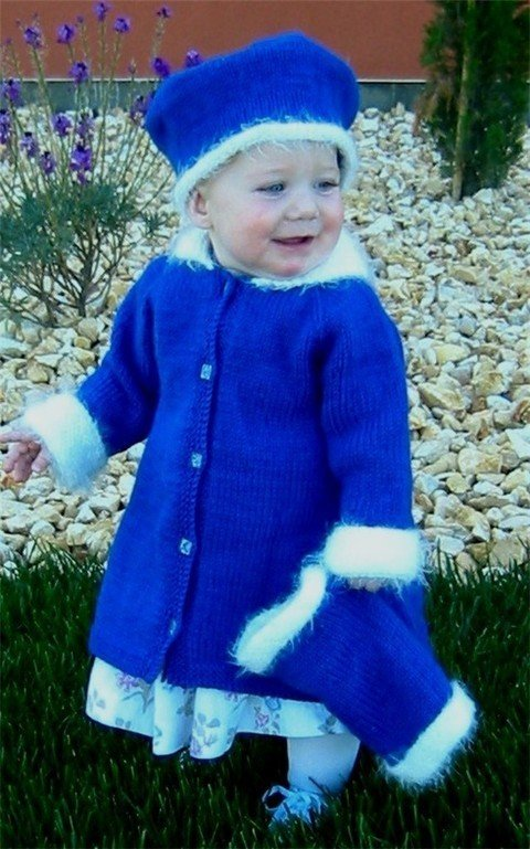 Knitting Pure & Simple Pattern - #254 Little Girl's Dress Coat