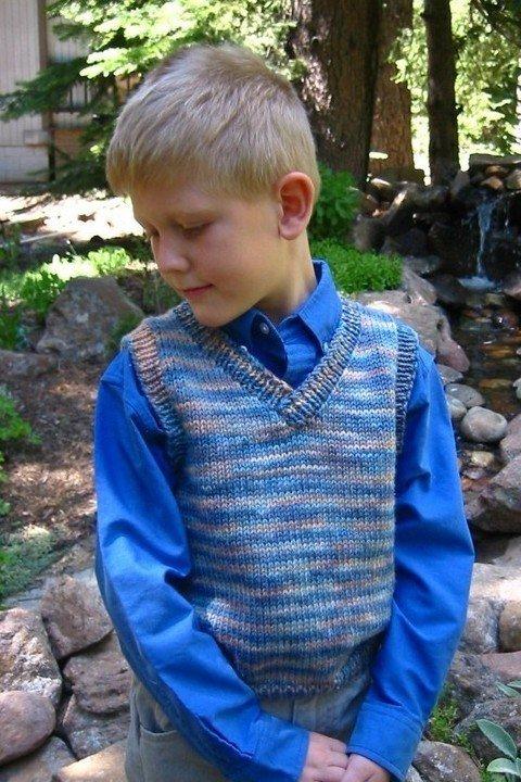 Knitting Pure & Simple Pattern - #256 Basic Vest for Children