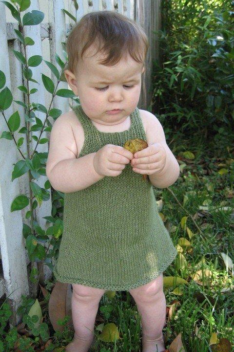 Knitting Pure & Simple Pattern - #266 Little Girl's Sundress or Jumper