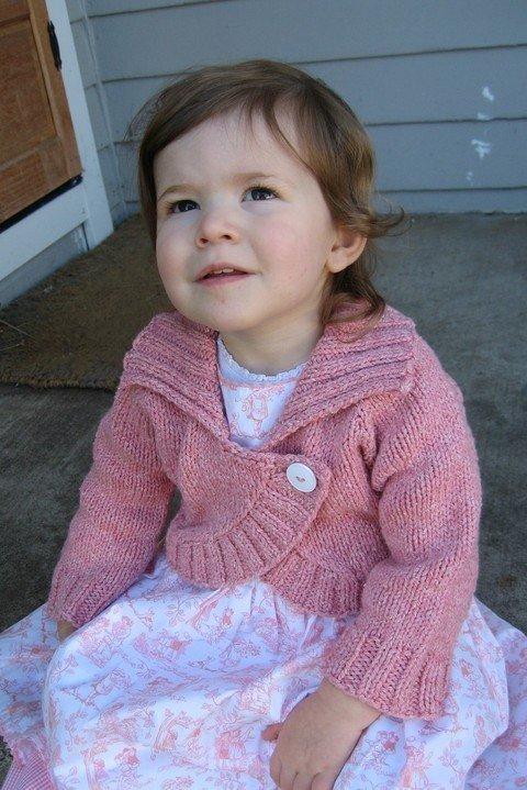 Knitting Pure Simple Pattern 275 Childrens Neck Down Bolero