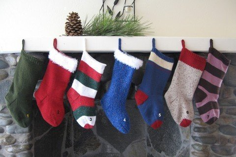 Knitting Pure & Simple Pattern - #277 Easy Christmas Stockings