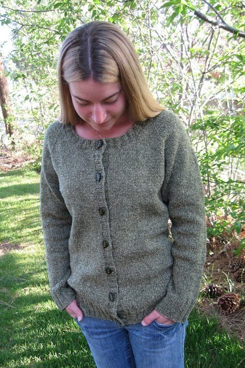 Knitting Pure Simple Pattern 278 Neck Down Scoop Neck Cardigan