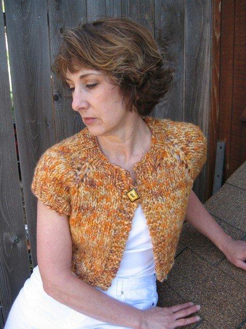 Knitting Pure & Simple Pattern - #286 Bulky Shrug for Women