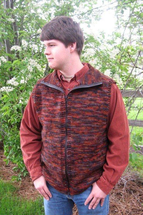 Knitting Pure & Simple Pattern - #289 Bulky Vest for Men