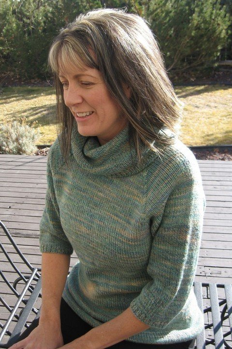 Knitting Pure & Simple Pattern - #291 Neck Down Cowl Collar Pullover