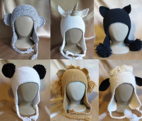Knitting Pure & Simple Pattern - #1306 Animal Hats