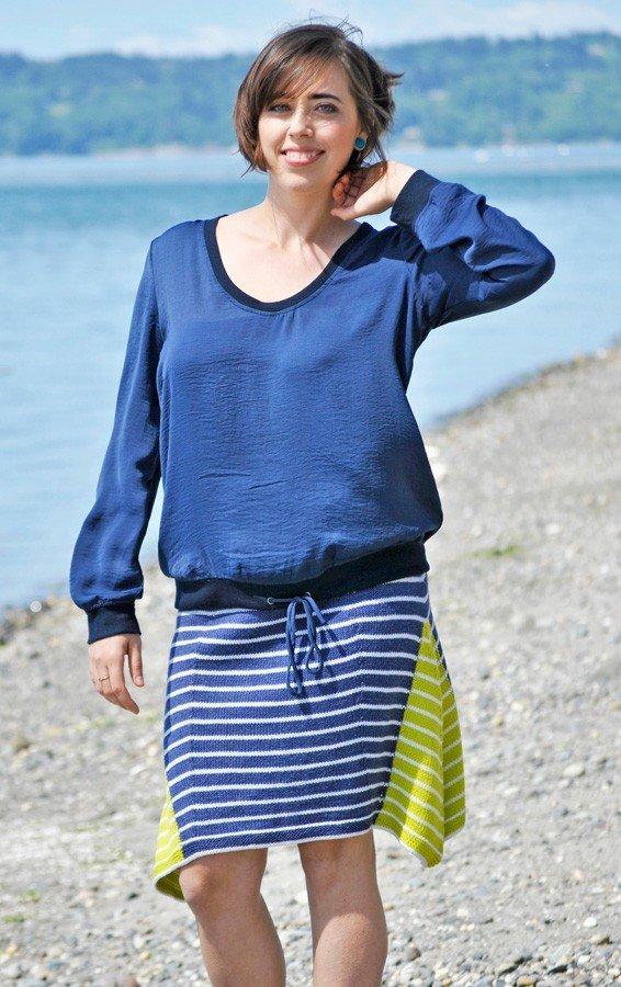 Sueno - Triangle Striped Skirt Pattern #21100687