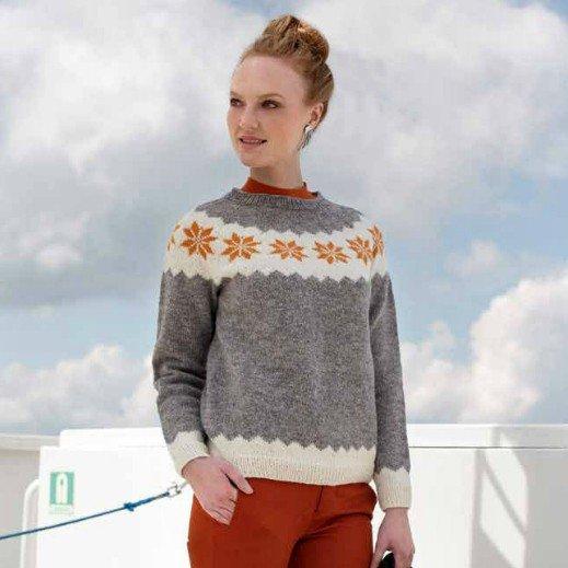 Finullgarn Pattern - Raglan Sweater 222R-18