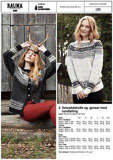 Finullgarn Pattern - Setesdal Jacket or Sweater with Yoke 225R-2