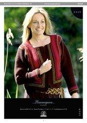 Finullgarn Pattern - Short Garter Stitch Cardigan 1319