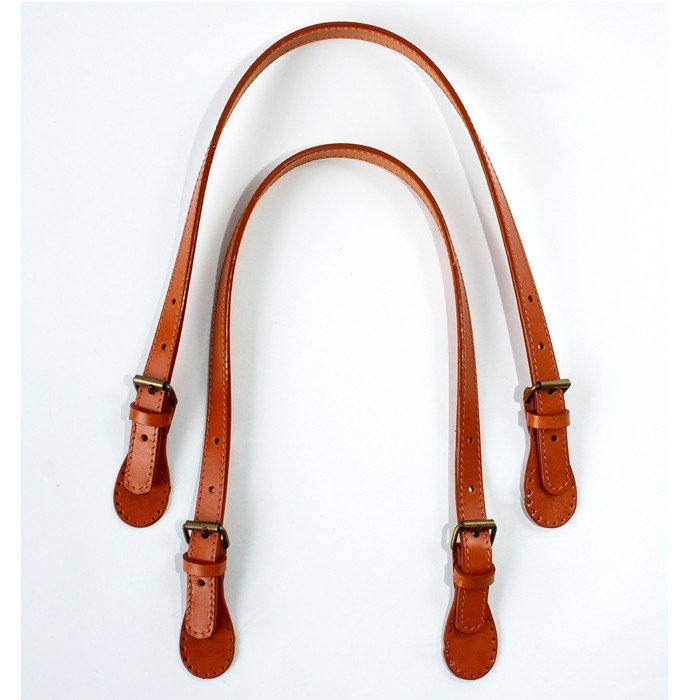 Makers' Mercantile Leather Teardrop Sew-On Adjustable Purse Straps
