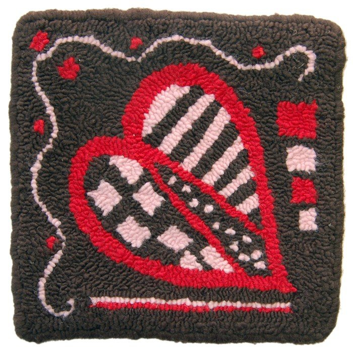Fiberhooking Kit - Chocolate Heart