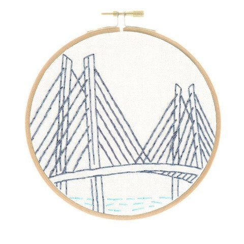 Studio MME - Portland's Tilikum Crossing Embroidery Kit