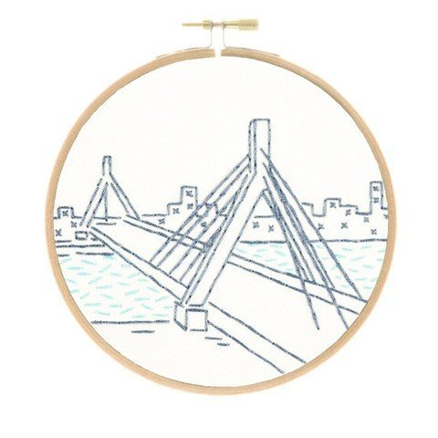 Studio MME - Boston's Zakim Bridge Embroidery Kit