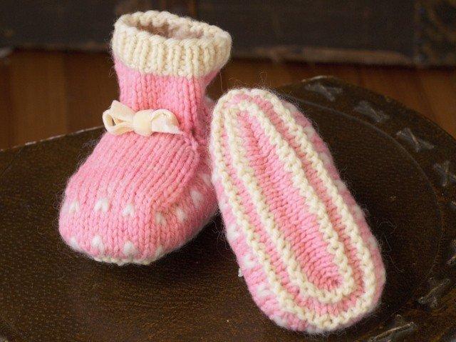 Appalachian Baby Organic Cotton - Thrum Booties & Mittens Knit Kit Gift Set - Pink