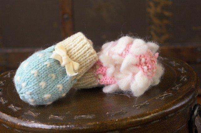 Appalachian Baby Organic Cotton - Thrum Booties & Mittens Knit Kit Gift Set - Blue